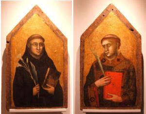 Le tavole dei due santi