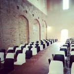Sala in cui si svolgerà il convegno nella mattina, alla Fortezza Vecchia